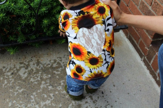 Shirt - Floral Shirt For Toddlers- Sunflower Top