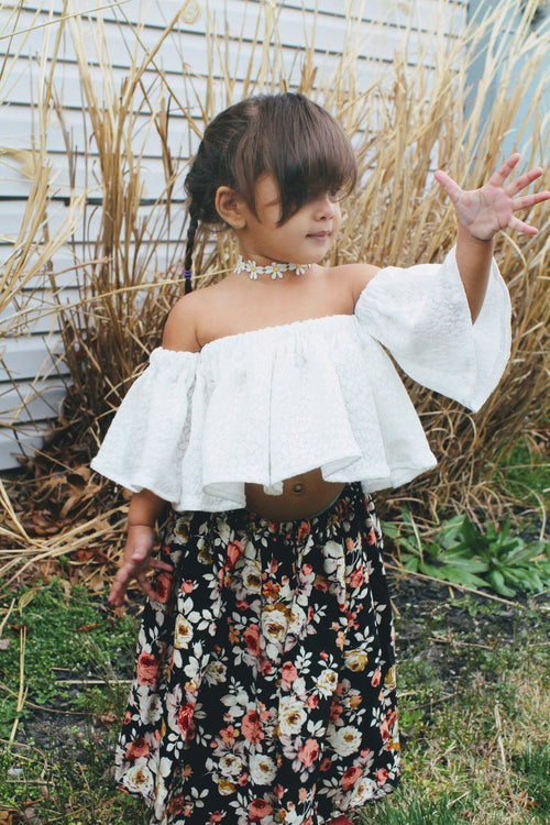 Shirt - White Lace Toddler Shirt