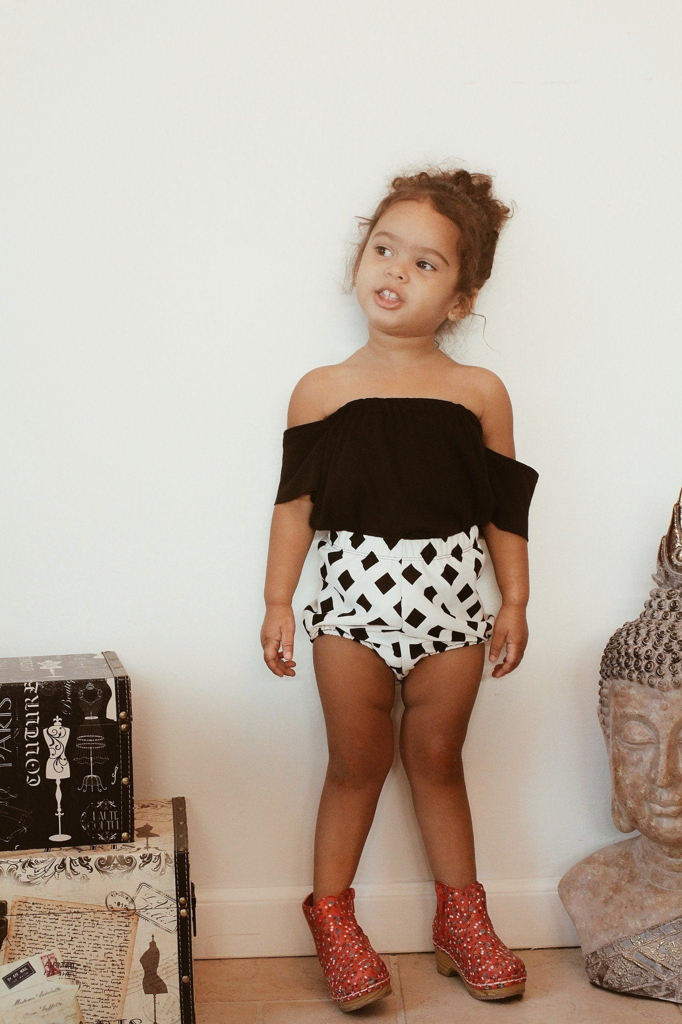Shorts - Black Diamond Shorts For Toddler Girls