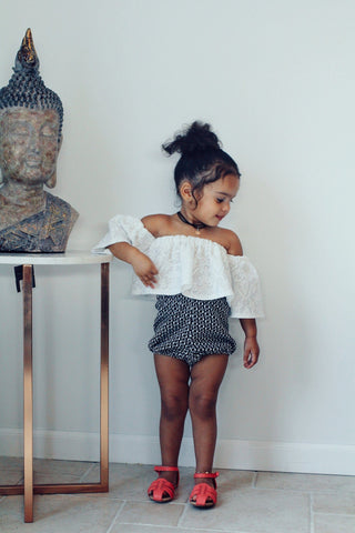 Herringbone Set Toddler | Ivory & Black