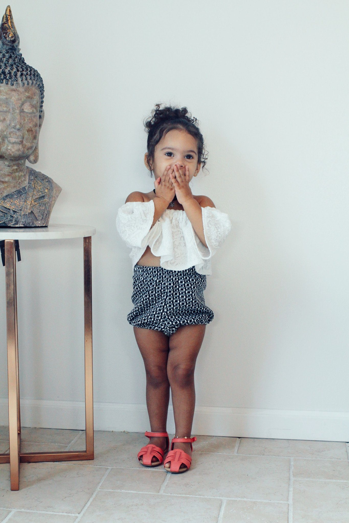 Shorts - Black & White Shorts For Toddler Girls