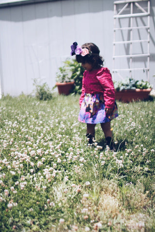 Wildflower Dress for Toddler Girls - Pink & White