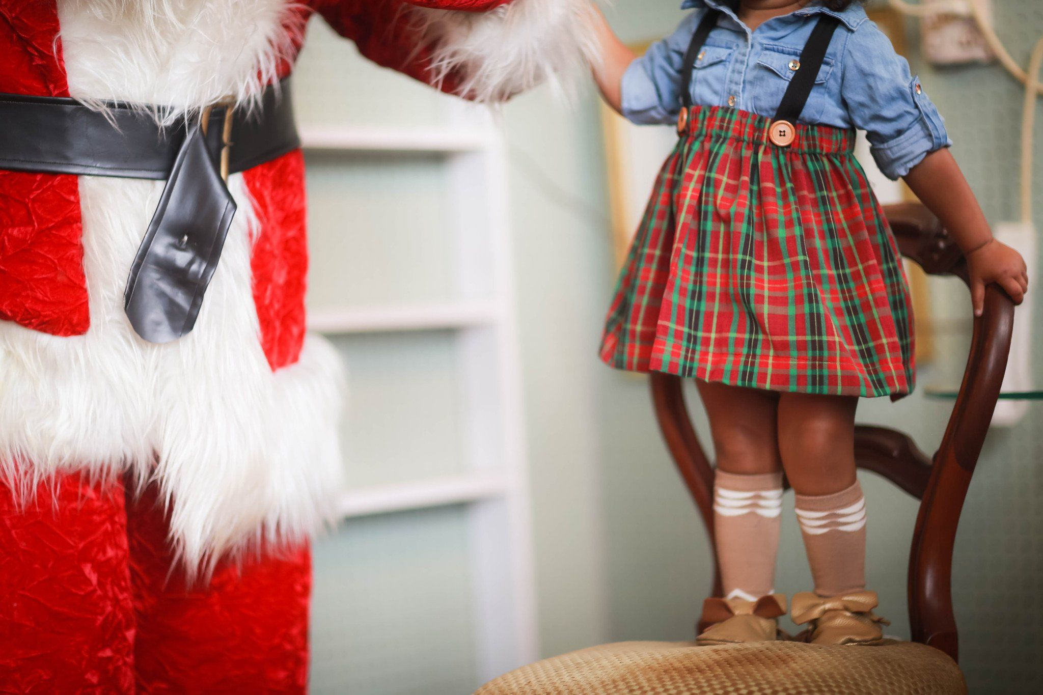 Skirt - Red Plaid Skirt For Toddler Girl