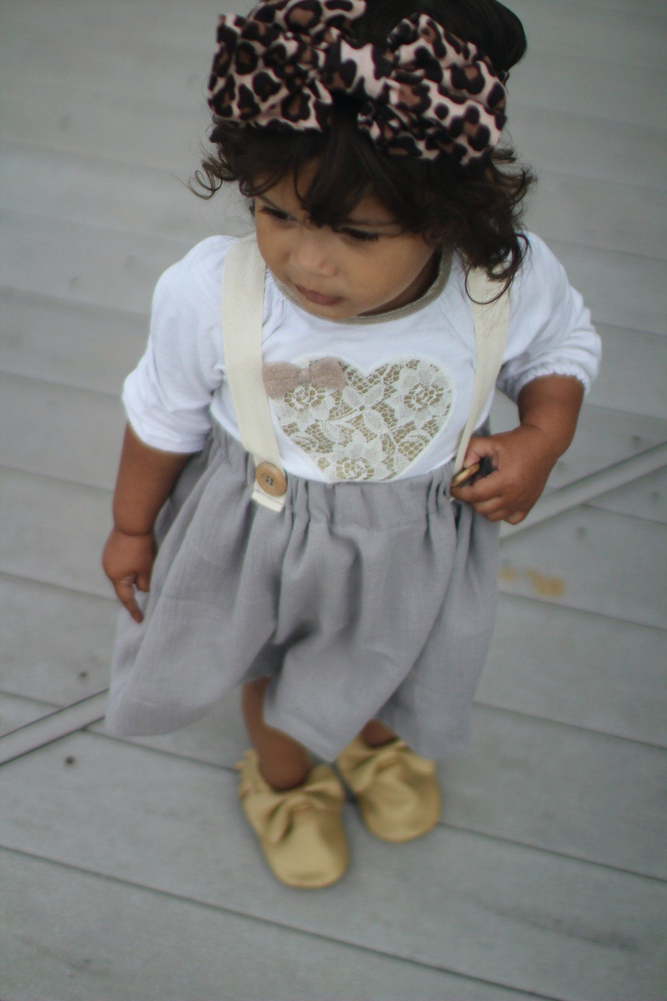 Skirt - Suspender Skirt - Baby Gray