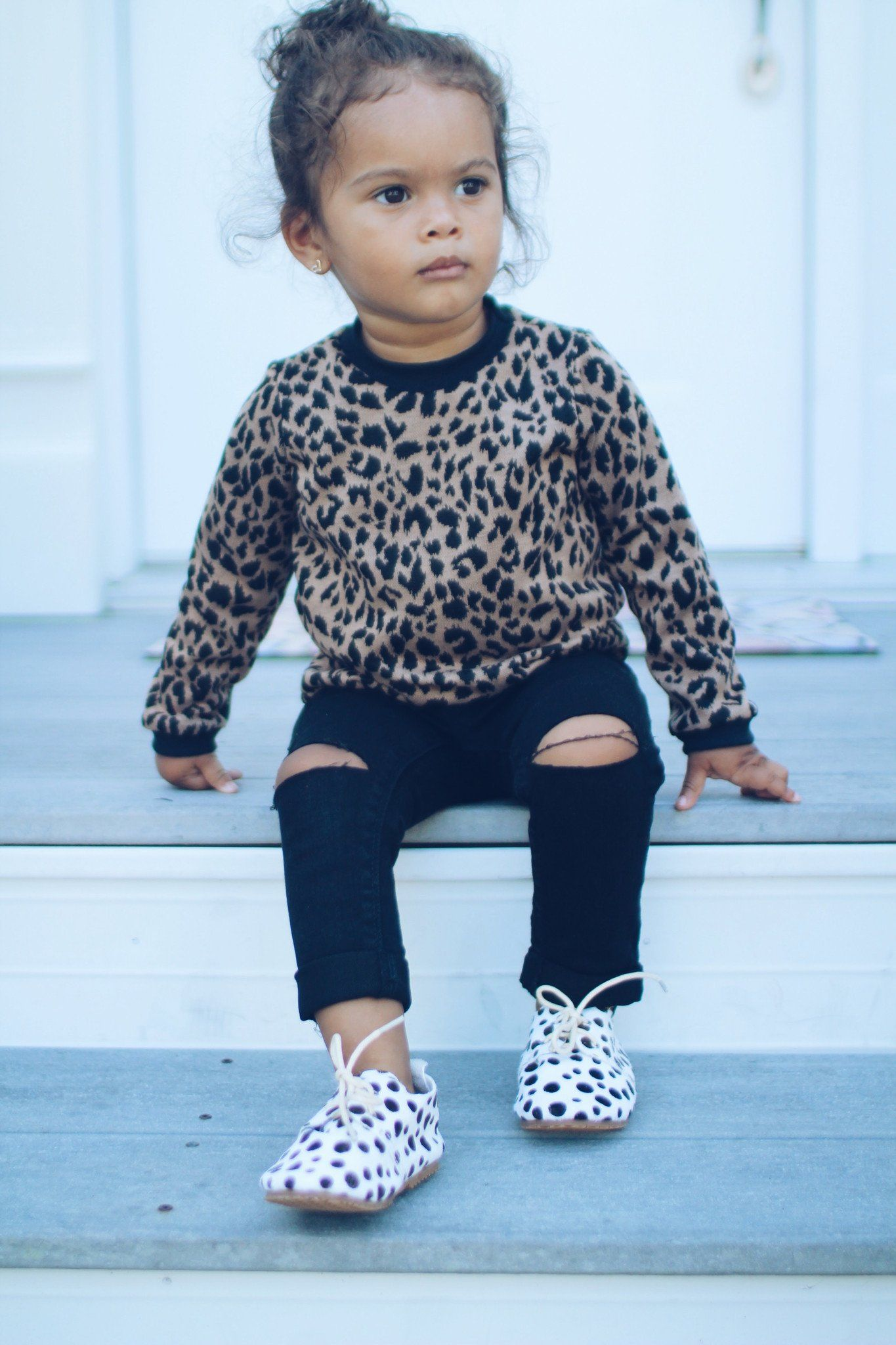 Sweater - Leopard Sweatshirt For Toddler Girl