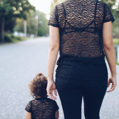 Top - Mother And Daughter Matching Shirt - Leopard Lace