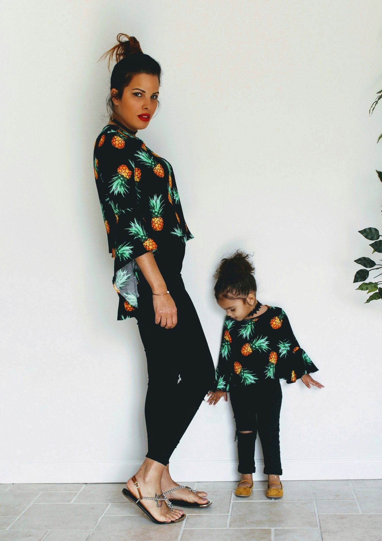 Top - Pineapple Shirts - Mommy & Me Matching Outfits