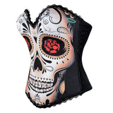 Sexy Black Skull Day of The Dead Corset