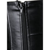 Black Criss Cross Faux Leather Corset