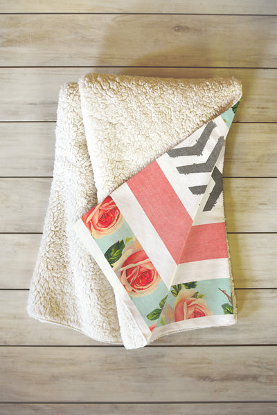 Floral Stripes & Arrows Blanket