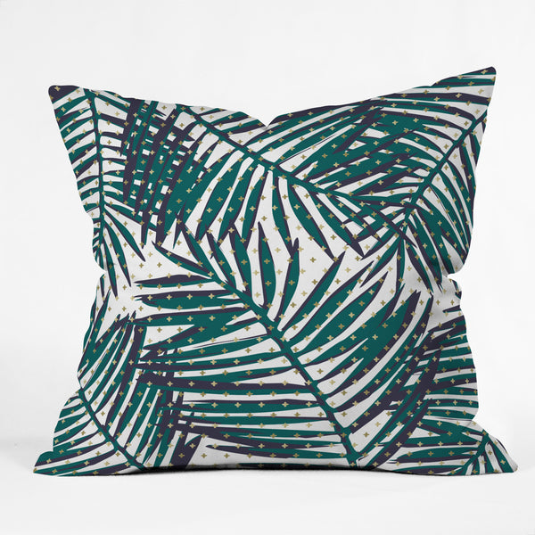 The Palm Hotel Outdoor Throw Pillow