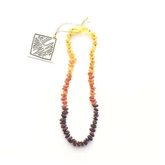 Raw Baltic Amber - Ombre Necklace