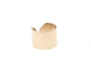 Small Textured Cuff Ring