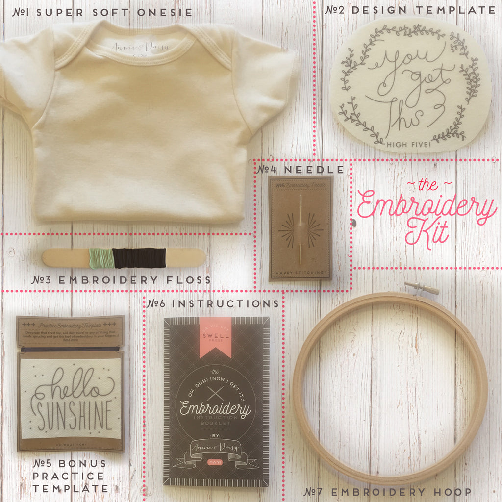 DIY Onesie Embroidery Kit