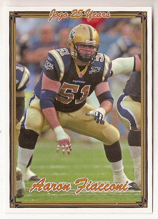 Aaron Fiacconi CFL card 2005 Jogo #49 Winnipeg Blue Bombers  Mansfield Mounties