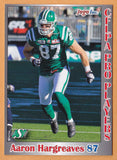 Aaron Hargreaves CFL card 2012 Jogo Pro Player #128 Saskatchewan Roughriders  Simon Fraser Clansmen