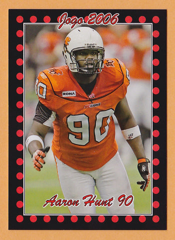 Aaron Hunt CFL card 2006 Jogo #147 BC Lions  Texas Tech Red Raiders