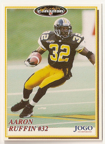 Aaron Ruffin CFL card 1997 Jogo #194 Hamilton Tiger-Cats  Nicholls State Colonels