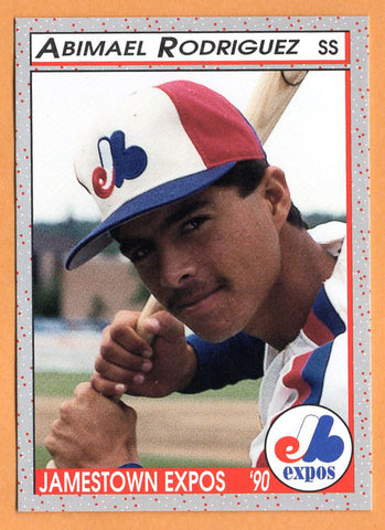 Abimael Rodriguez 1990 Jamestown Expos Minor League Baseball  Hatillo, Puerto Rico