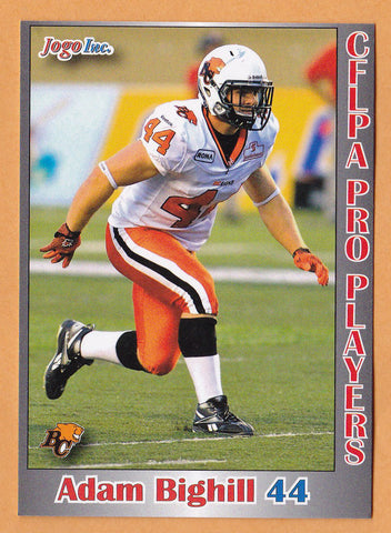 Adam Bighill CFL card 2012 Jogo Pro Player #24 BC Lions  Central Washington Wildcats