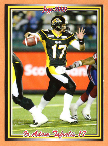 Adam Tafralis CFL card 2009 Jogo rookie shortprint #9R Hamilton Tiger-Cats  San Jose State Spartans