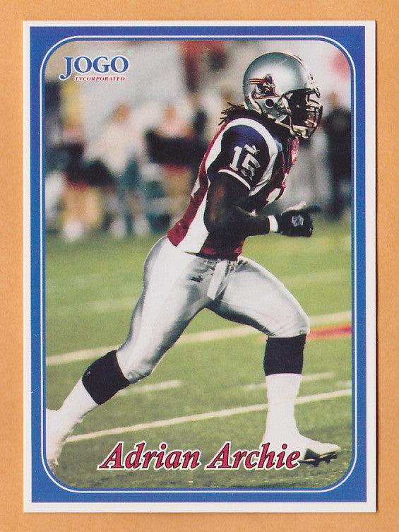 Adrian Archie CFL card 2003 Jogo #9 Montreal Alouettes  Richmond Spiders