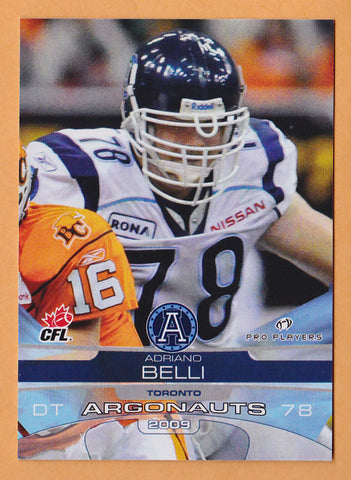 Adriano Belli CFL card 2009 Extreme #122 Toronto Argonauts  Houston Cougars