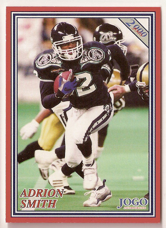 Adrion Smith CFL card 2000 Jogo #55 Toronto Argonauts  Southwest Missouri State Bears