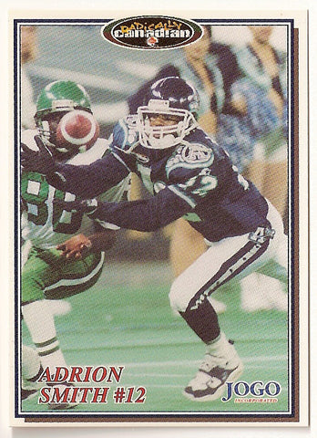 Adrion Smith CFL card 1997 Jogo #23 Toronto Argonauts  Missouri State Bears