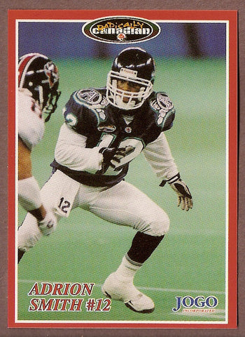 Adrion Smith CFL card 1996 Jogo #100 Toronto Argonauts  Missouri State Bears