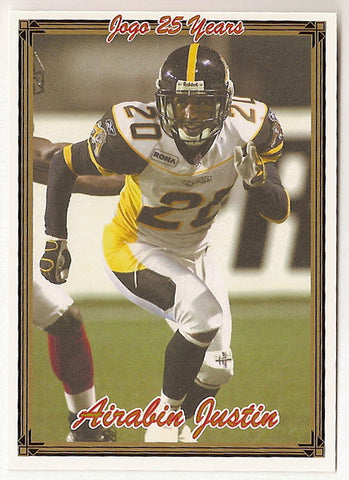 Airabin Justin CFL card 2005 Jogo #162 Hamilton Tiger-Cats  Northern Arizona Lumberjacks