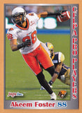 Akeem Foster CFL card 2012 Jogo Pro Player #123 BC Lions  St. Francis Xavier X-Men