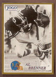 Al Brenner CFL card 1995 Jogo Missing Years #10D Hamilton Tiger-Cats  Michigan State Spartans