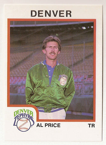 Al Price 1987 Denver Zephyrs Minor League Baseball