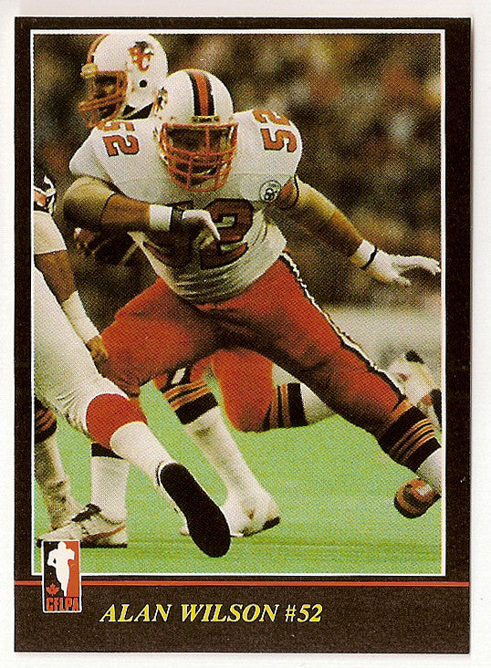 Al Wilson CFL card 1986 Jogo CFL #62 BC Lions  Montana State Bobcats  Hall of Fame