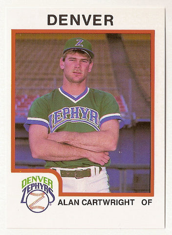 Alan Cartwright 1987 Denver Zephyrs Minor League Baseball  Southeastern Oklahoma State Savage Storm  Turner Falcons