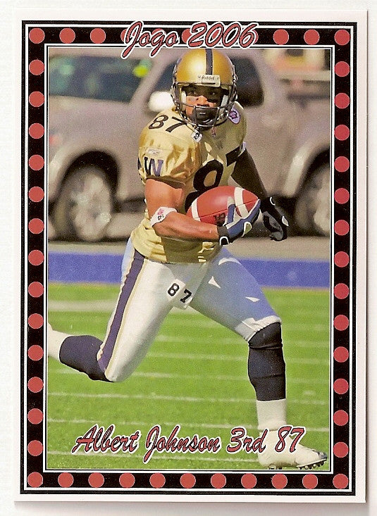 Albert Johnson CFL card 2006 Pro Player Jogo #14 Winnipeg Blue Bombers  Southern Methodist SMU Mustangs