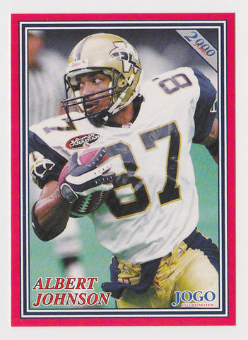 Albert Johnson CFL card 2000 Jogo #68 Winnipeg Blue Bombers  Southern Methodist SMU Mustangs