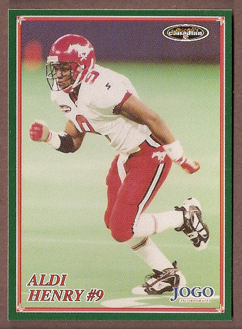 Aldi Henry CFL card 1998 Jogo #186 Calgary Stampeders  Michigan State Spartans