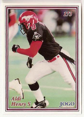 Aldi Henry CFL card 1999 Jogo #173 Calgary Stampeders  Michigan State Spartans