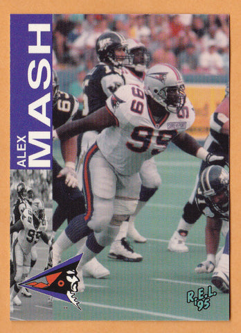 Alex Mash CFL card 1995 REL #120 Shreveport Pirates  Georgia Southern Eagles
