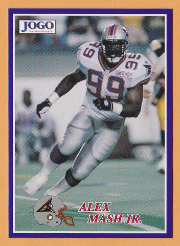 Alex Mash CFL card 1995 Jogo #209 Shreveport Pirates  Georgia Southern Eagles