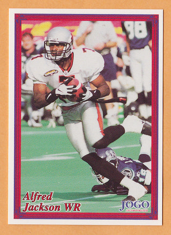 Alfred Jackson CFL card 1999 Boston Pizza Jogo #7 BC Lions  San Diego State Aztecs  99.3 The Fox