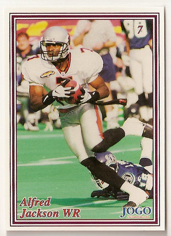 Alfred Jackson CFL card 1999 Jogo #7 BC Lions  San Diego State Aztecs