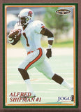 Alfred Shipman CFL card 1998 Jogo #107 BC Lions  Miami Hurricanes