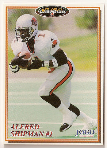 Alfred Shipman CFL card 1997 Jogo #76 BC Lions  Miami Hurricanes