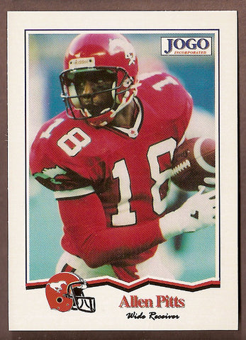 Allen Pitts CFL card 1994 Jogo #133 Calgary Stampeders  Cal State Fullerton Titans  Hall of Fame