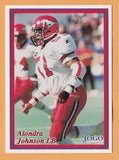 Alondra Johnson CFL card 1999 Boston Pizza Jogo #15 Calgary Stampeders  West Texas A&M Buffaloes  Hall of Fame  99.3 The Fox