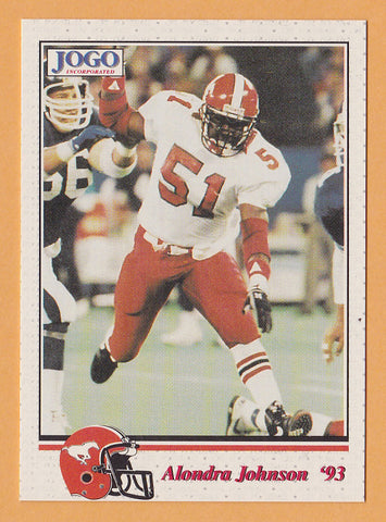 Alondra Johnson CFL card 1993 Jogo #196 Calgary Stampeders  West Texas A&M Buffaloes  Hall of Fame