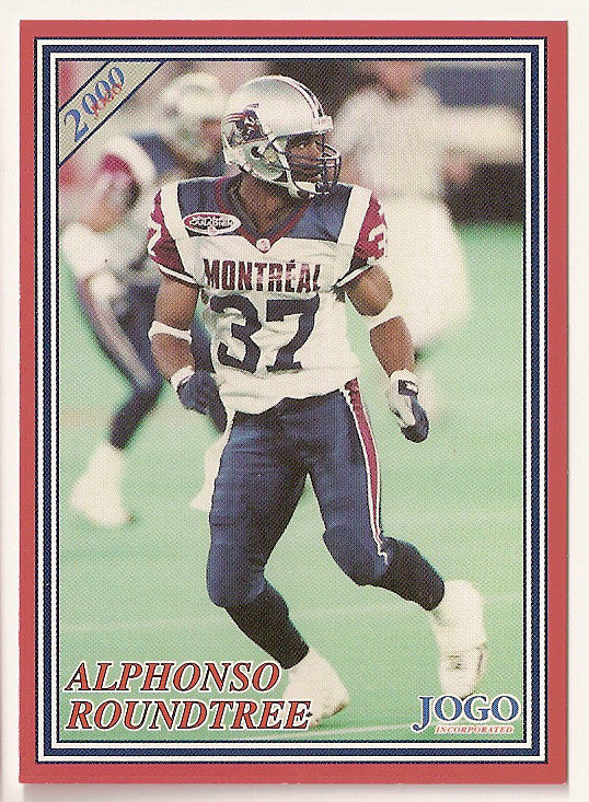 Alphonso Roundtree CFL card 2000 Jogo #15 Montreal Alouettes  Tulane Green Wave